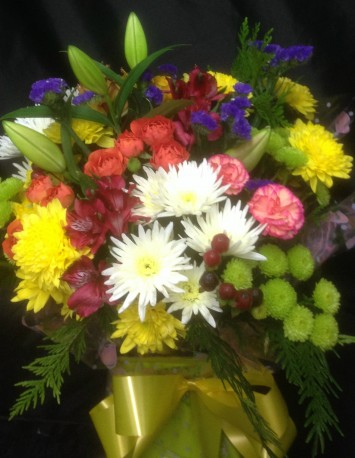 Mixed Seasonal Flower Aqua Box